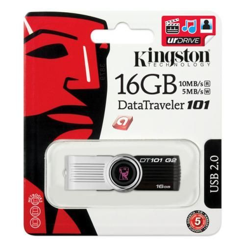 USB 2.0 STICK KINGSTON 16GB TRAVELER 101 G2