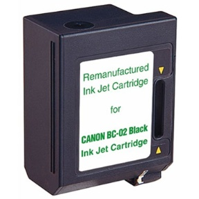 ΣΥΜΒΑΤΟ ΜΕΛΑΝΙ INK Compatible Remanufactured Canon BC-02 Black BC 02 907B Μαύρο inkjet cartridge