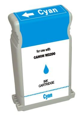 ΣΥΜΒΑΤΟ ΜΕΛΑΝΙ INK Compatible Remanufactured Canon BCI-1302C Cyan BCI 1302 Γαλάζιο Ink Cartridge 130ml