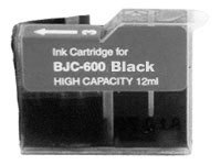ΣΥΜΒΑΤΟ ΜΕΛΑΝΙ INK Compatible Remanufactured Canon BJI-201Bk Black C00201 BJI 201 Μαύρο Inkjet Cartridge HIGH CAPACITY 12ml