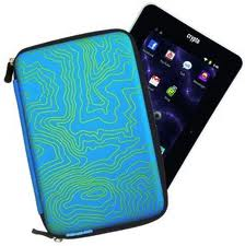 "Θήκη CRYPTO TABLET CASE 7"" HARD ZEBRA ZIP AQUA W003880"