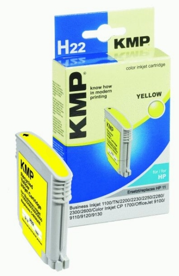 ΣΥΜΒΑΤΟ ΜΕΛΑΝΙ INK HP C4838AE HP11 YELLOW ΚΙΤΡΙΝΟ Η22 H22 C 4838 AE HP 11 Business Inkjet 1100/ TN/ 2200/ 2230