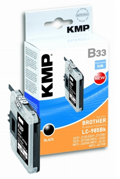 ΣΥΜΒΑΤΟ ΜΕΛΑΝΙ INK BROTHER LC-985BK 14 ML BLACK ΜΑΥΡΟ B33 Β33 LC 985 DCP-J125/DCP-J315W/DCP-J515W