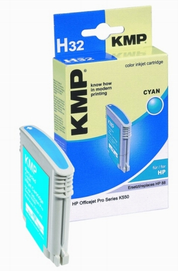 ΣΥΜΒΑΤΟ ΜΕΛΑΝΙ INK HP C9391AE HP88XL CYAN ΓΑΛΑΖΙΟ Η32 H32 C 9391 AE HP 88 XL Officejet Pro Series K550