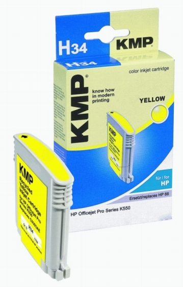 ΣΥΜΒΑΤΟ ΜΕΛΑΝΙ INK HP C9393AE HP88XL YELLOW ΚΙΤΡΙΝΟ Η34 H34 C 9393 AE HP 88 XL Officejet Pro Series K550