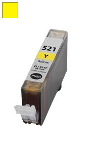 ΣΥΜΒΑΤΟ ΜΕΛΑΝΙ INK Canon CLI-521Y (with chip) YELLOW ΚΙΤΡΙΝΟ ΓΙΑ Pixma MP540/MP550/560/MP620/MP630/MP640/MP980, Pixma IP3600/IP4600/IP4700 9,4ml