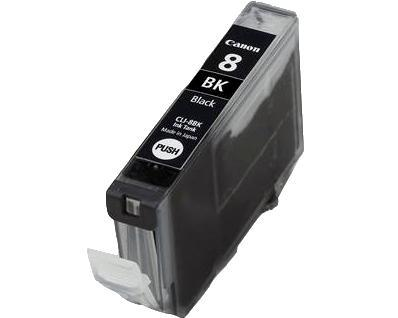 ΣΥΜΒΑΤΟ ΜΕΛΑΝΙ INK Canon CLI-8BK (with chip) BLACK ΜΑΥΡΟ ΓΙΑ Pixma IP4200/IP5200/IP5200R/MP500/MP800/IP6600D/M830D, Canon Pixma IP6600D, Canon PixmaTM Pro9000 12,6ml