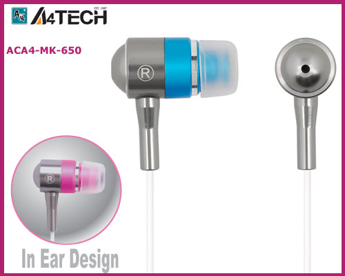 Ακουστικά EARPHONE A4 Mk-650 High End A4tech Metallic Blue