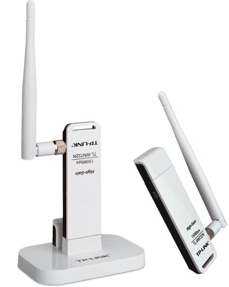 Ασύρματο TP-LINK WN722N WIRELESS LITE N HIGH GAIN USB ADAPTER,ATHEROS CHIPSET 1T1R 1 DETACHABLE ANTENNA