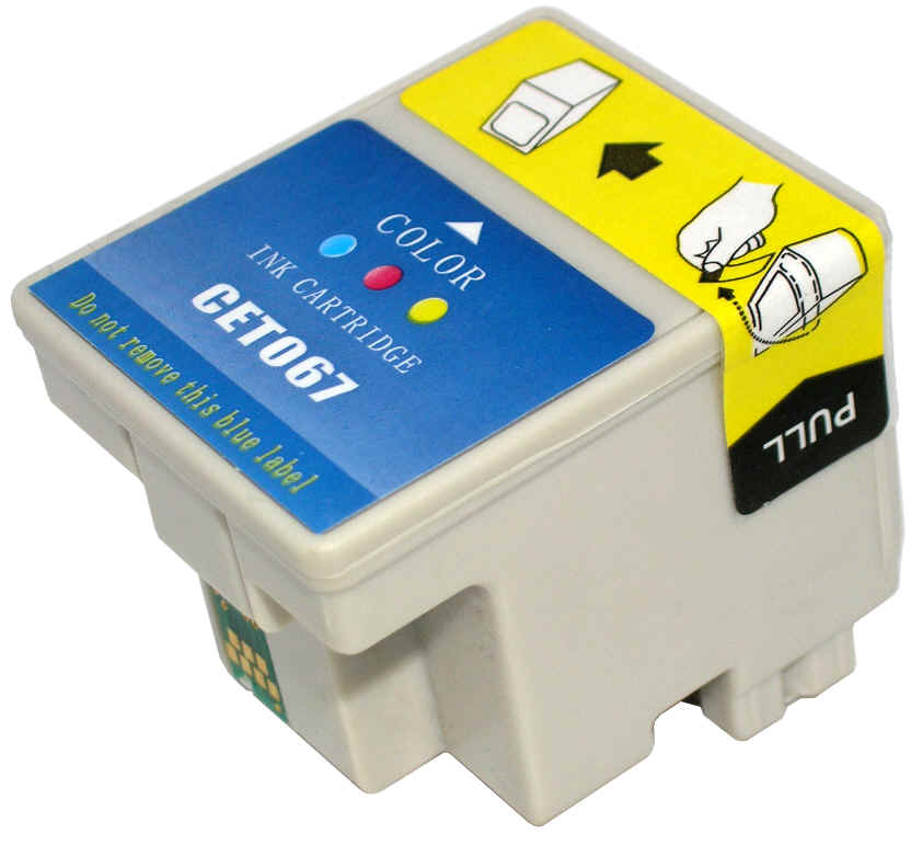 ΣΥΜΒΑΤΟ ΜΕΛΑΝΙ INK Remanufactured Epson T067 067 67 Color Έγχρωμο STYLUS C48 25ml