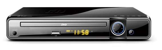 MINI DVD PLAYER ΜΕ USB F&U DVD2551
