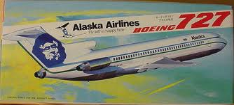 1/200 HASEGAWA LB2 Alaska Airlines Boeing 727-200 1:200 civilian aircraft model kit