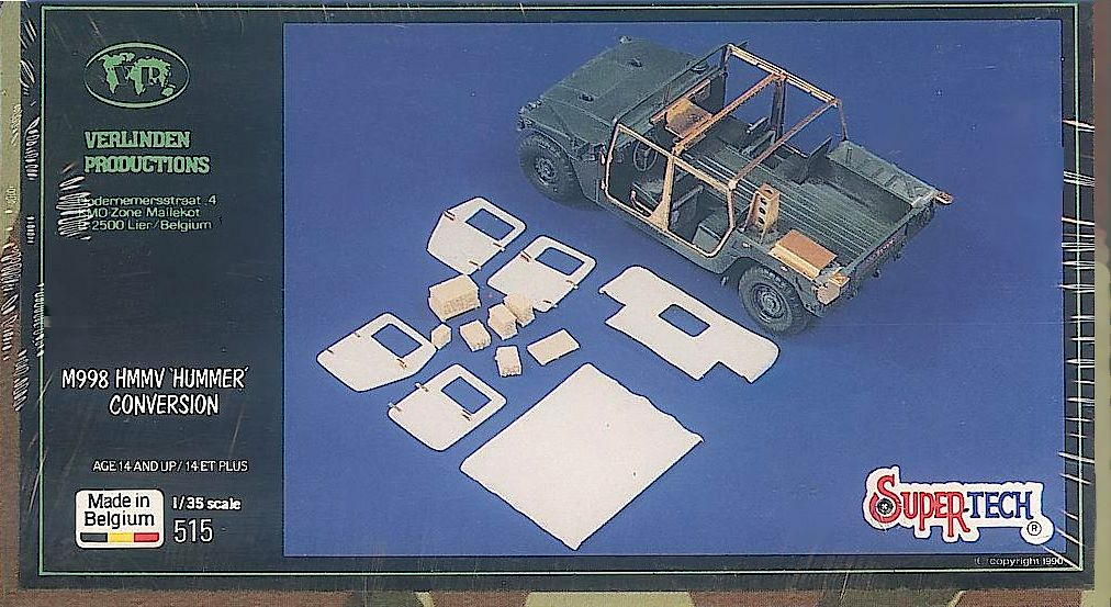 VERLINDEN PRODUCTIONS No. 515, 1/35-HUMMER CONVERSION SET model upgrade 1:35