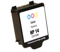 ΣΥΜΒΑΤΟ ΜΕΛΑΝΙ INK HP14 HP 14 HPC5010A HP C5010A C 5010 A Color Έγχρωμο for Color Inkjet CP1160 OfficeJet/D125Xi 19ml
