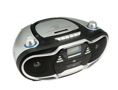 ΦΟΡΗΤΟ CD PLAYER IQ CD-430 CD/MP3 PLAYER FM/AM RADIO CASSETTE RECORDER