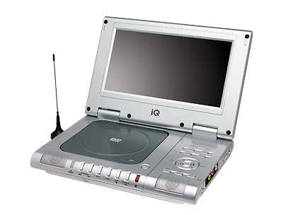 "ΦΟΡΗΤΟ DVD PLAYER IQ DVD-395TV ΜΕ ΟΘΟΝΗ 9"" TFT TV PORTABLE 12V - DIVX"