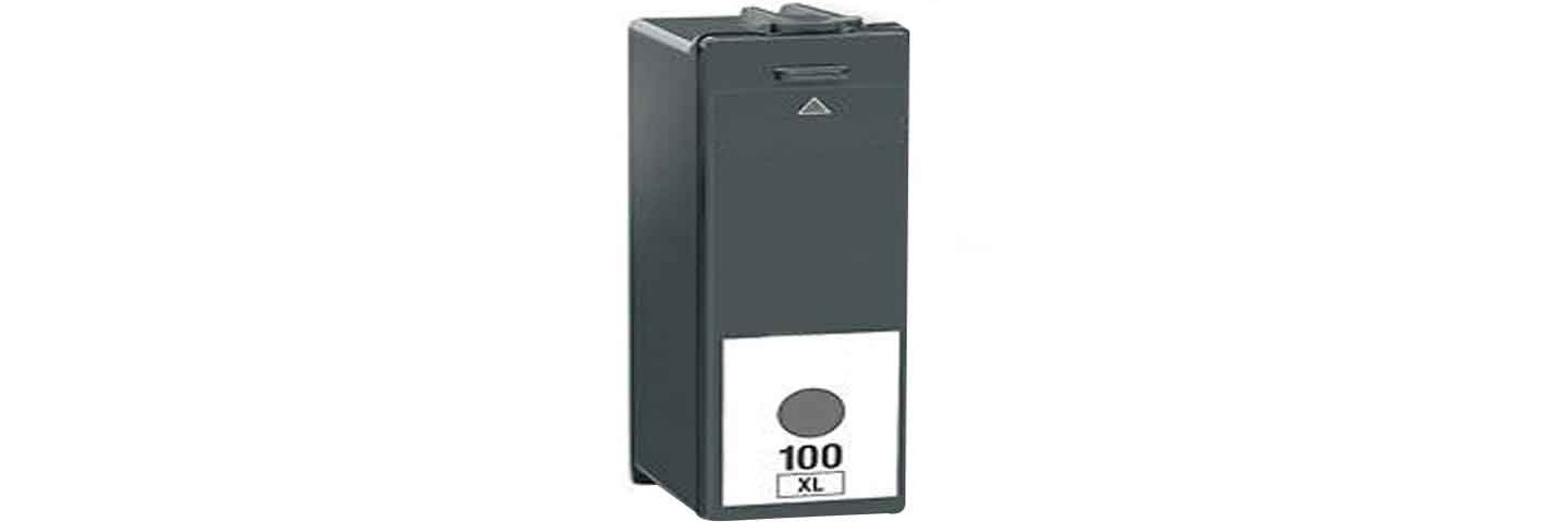 ΣΥΜΒΑΤΟ ΜΕΛΑΝΙ INK Lexmark 100XL 100 XL Black Μαύρο 14N1068E for S305, S405, S505 with Original Chip 510 σελίδες