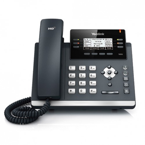 Σταθερή τηλεφωνική συσκευή VOIP Yealink SIP-T42G Ultra-Elegant Gigabit Color IP Phone