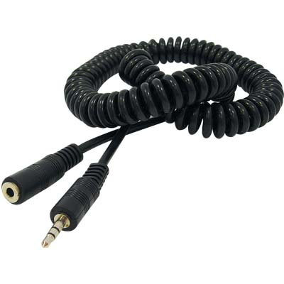 CABLE-405 Spiral 3,5mm STΑΡΣ-3,5mST ΘΗΛ Καλώδιο Spiral 3,5mm Stereo αρσ. - 3,5mm Stereo θηλ.