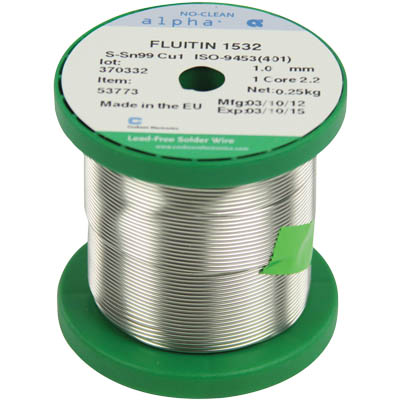 ΚΟΛΛΗΣΗ LEAD FREE 0.5mm 250gr FLUITIN
