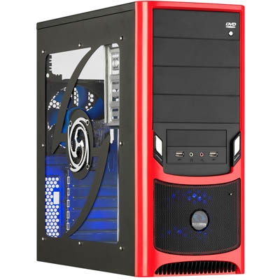 "CASE RM238.BR RAIDMAX ATX ""TORNADO"" BLACK/RED Κουτί ATX MidiTower ""Tornado"""