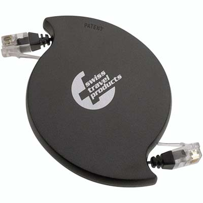 RMC-45 SWISS RETRACTABLE ISDN/LAN CORD- RJ45
