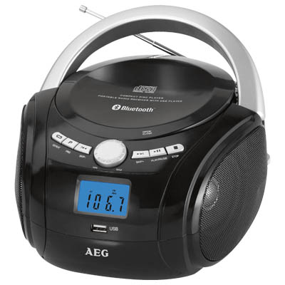SR 4348 BLACK BLUETOOTH CD-RADIO AEG Φορητό CD - Radio με bluetooth