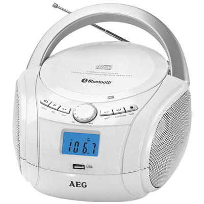SR 4348 WHITE BLUETOOTH CD-RADIO AEG Φορητό CD - Radio με bluetooth