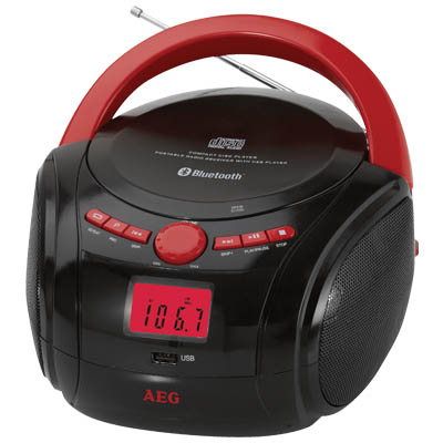 SR 4348 RED BLUETOOTH CD-RADIO AEG 005178 Φορητό CD - Radio με bluetooth