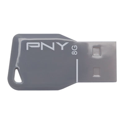 PNY USB STICK 8GB KEY GREY / FDU8GBKEYGRY-EF Usb Stick Key Attache™ Grey 8GB
