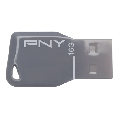 PNY USB STICK 16GB KEY GREY / FDU16GBKEYGRY-EF Usb Stick Key Attache™ Grey 16GB