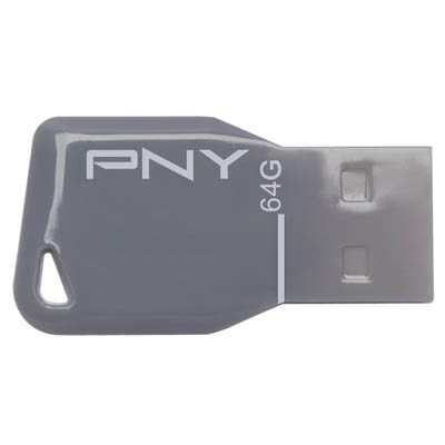 PNY USB STICK 64GB KEY / FDU64GBKEYGRY-EF Usb Stick Key Attache γκρι 64GB