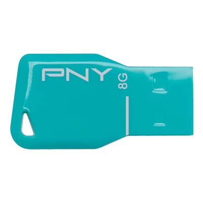 PNY USB STICK 8GB KEY BLUE / FDU8GBKEYBLU-EF Usb flash drive Key Attache blue 8GB