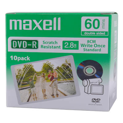 MAXELL DVD-R (10 pack) 2,8GB MINI J/C 60 MIN 11116160 Δίσκοι MINI DVD-R 2.8GB 60min σε JEWEL CASE 10 τμχ