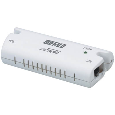 BUFFALO WLE-POE-S-WR / POWER ETHERNET SUPPLY Αντάπτορας τροφοδοσίας με καλώδιο Ethernet (Power Over Ethernet)