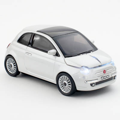 FIAT 500 NEW WIRELESS PEARL WHITE CLICK CAR MOUSE / CCM660080 Ασύρματο οπτικό USB ποντίκι - Fiat 500.