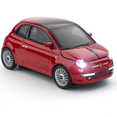 FIAT 500 NEW WIRELESS RED CLICK CAR MOUSE / CCMFIANWre (CCM660073) Ασύρματο οπτικό ποντίκι - Fiat 500.