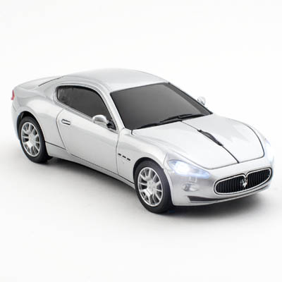 MASERATI WIRELESS SILVER CLICK CAR MOUSE / CCM660097 Ασύρματο οπτικό ποντίκι - Maserati GranTurismο.