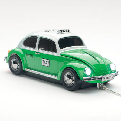 VW BEETLE TAXI WIRED GREEN CLICK CAR MOUSE / CCM660165 Ενσύρματο οπτικό USB ποντίκι Plug&Play