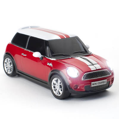 MINI COOPER S WIRELESS RED CLICK CAR MOUSE / CCM660127 Ασύρματο οπτικό ποντίκι MINI COOPER S 2.4Ghz