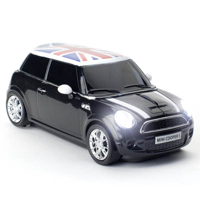 MINI COOPER S WIRELESS BLACK CLICK CAR MOUSE / CCM660134 Ασύρματο οπτικό ποντίκι MINI COOPER S 2.4Ghz