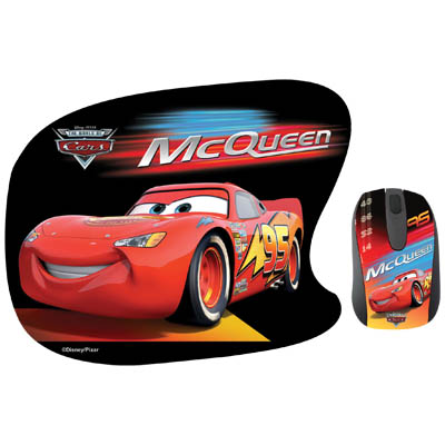 "DSY TP1001 ""CARS"" MO112&MP026 TWO PACK Σετ mini οπτικό ποντίκι και mousepad ""CARS"""