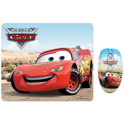 "DSY TP1002 ""CARS"" MO111&MP020 TWO PACK Σετ mini οπτικό ποντίκι και mousepad ""CARS"""