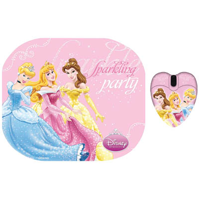 "DSY TP2003 ""PRINCESS"" MM212&MP013 TWO PACK Σετ mini ποντίκι και mousepad ""PRINCESS"""