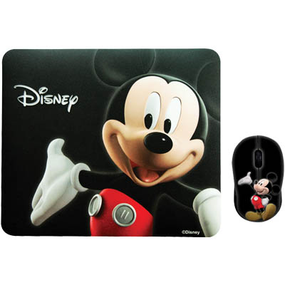 "DSY TP3001 ""MICKEY"" RETRO MM204&MP066 TWO PACK Σετ mini ποντίκι και mousepad ""MICKEY 3D"""