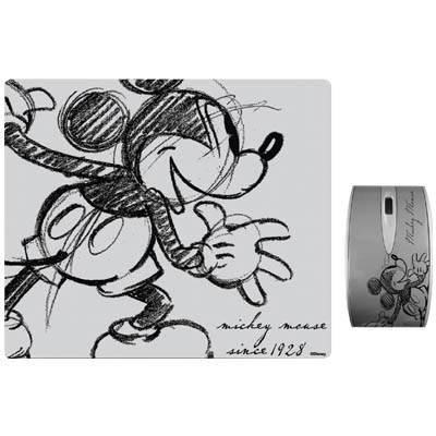 "DSY TP3002 ""MICKEY"" RETRO MO152&MP065 TWO PACK Σετ mini οπτικό ποντίκι και mousepad ""MICKEY RETRO"""