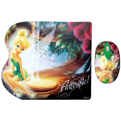 "DSY TP7001 ""FAIRIES"" MO198&MP081 TWO PACK Σετ mini οπτικό ποντίκι και mousepad ""FAIRIES"""