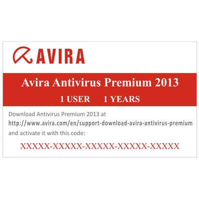AVIRA CARD ANTIVIRUS PREMIUM 2013 1 USER 1 YEAR Avira Antivirus Premium Card 2013