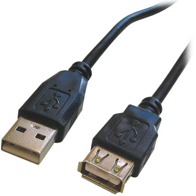 CABLE-143/3HS USB MALE/USB FEM BLACK HI SPEED Καλώδιο USB A αρσ. - USB A θηλ.,2.0