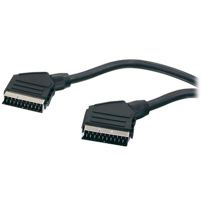 HQB-020/5 SCART 21P - SCART 21P HIGH QUALITY 5M Scart to Scart connection cable